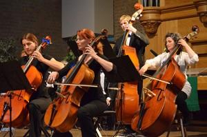 cellisten en contrabassisten